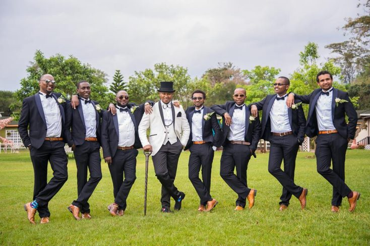 Kenyan Groomsmen with swag - Mikolo