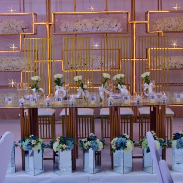 Maria & Isaac's wedding decor via mikolo