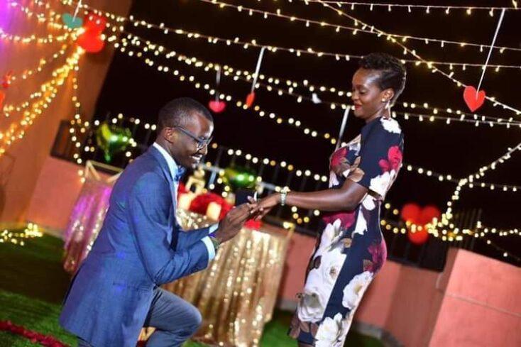 Raymond Mujuni proposes to Rita Kanya via mikolo